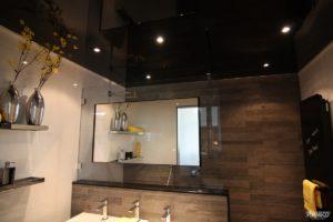 Plameco spanplafond zwart gelakt met spotjes