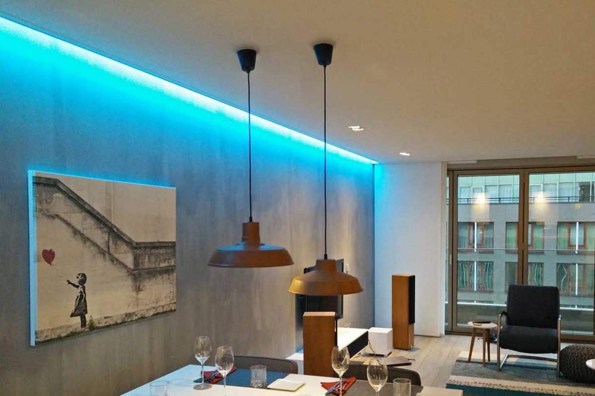 Is een nieuw verlichtingsplan mogelijk met een spanplafond?   Famst